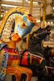 Cheval de carrousel de Coney Island Image stock