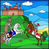 Cheval de chevalier Images libres de droits