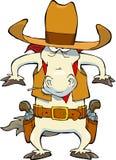 Cheval de cowboy Photographie stock libre de droits