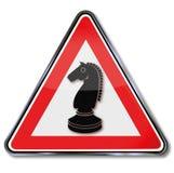 Cheval de gage pour des échecs illustration de vecteur
