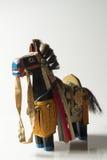 Cheval de guerre en bois noir Photographie stock libre de droits