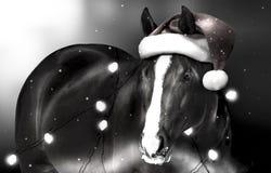Cheval de Noël Photo libre de droits
