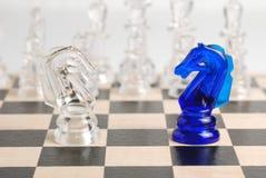 Cheval des échecs deux photographie stock libre de droits