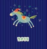 Cheval drôle de Noël Image libre de droits