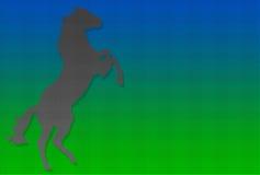 Cheval effréné pointillé Image libre de droits