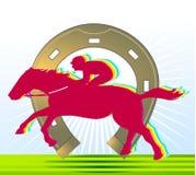 Cheval-emballage et fer à cheval illustration libre de droits