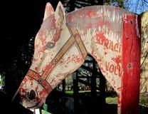 Cheval en bois Photos libres de droits