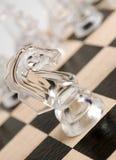 Cheval en verre d'échecs Photos libres de droits
