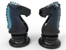 Cheval en verre d'échecs illustration libre de droits