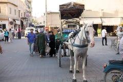 Cheval et chariot Photo stock