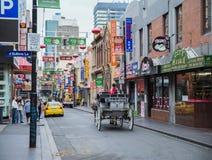 Cheval et chariot Chinatown, Melbourne, Australie Images libres de droits