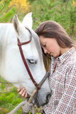 Cheval et humain photo stock