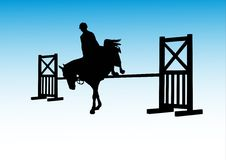 Cheval et jockey Image libre de droits
