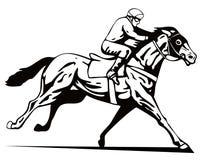 Cheval et jockey Images stock