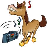 Cheval et musique Photo stock
