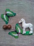 Cheval et papillons Photo libre de droits