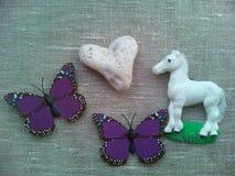 Cheval et papillons Images libres de droits