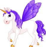 Cheval féerique de violette d'arrière Images stock