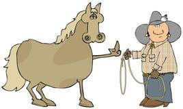 Cheval fou Image libre de droits