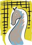 Cheval gris illustration de vecteur