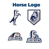 Cheval Logo Template Photographie stock
