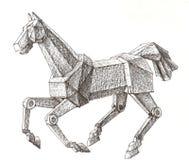 Cheval mécanique illustration de vecteur