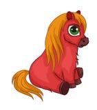 Cheval mou rouge de jouet Image libre de droits