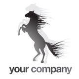 Cheval noir de logo Images libres de droits