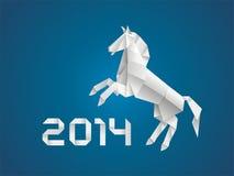 Cheval. Nouvelle année 2014 Image libre de droits