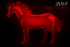 Cheval rouge 2014 Photos stock