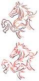 Cheval sautant Image stock