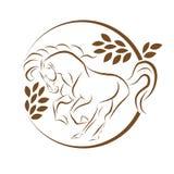 Cheval se tenant sur trois pattes icône, cheval se tenant sur l'icône Eps10 de trois pattes illustration stock