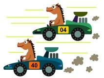 Cheval sur une course Image libre de droits