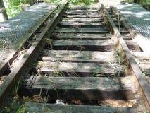 Chevalet abandonné de chemin de fer Photos libres de droits