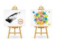 Chevalet ou peintre en bois Desk Vecteur Images libres de droits