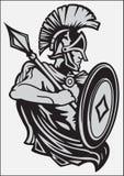 CHEVALIER IN ARMOR AVEC UNE LANCE ET UN BOUCLIER illustration de vecteur