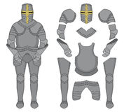 Chevalier Armor couleur Image stock