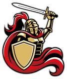 Chevalier avec le bouclier et l'épée illustration de vecteur