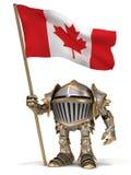 Chevalier avec le drapeau de Canada Images stock