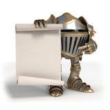 Chevalier avec un rouleau Image libre de droits