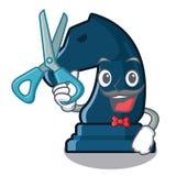 Chevalier d'échecs de coiffeur dans la forme de mascotte illustration libre de droits