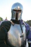 Chevalier dans l'armure en métal Images stock