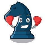Chevalier de boxe d'échecs dans la forme de mascotte illustration libre de droits