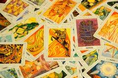 Chevalier de carte de tarot des baguettes magiques Plate-forme de Thoth Image stock