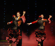 Chevalier de danse du monde de l'Autriche gloire-espagnole de flamenco-le Photographie stock