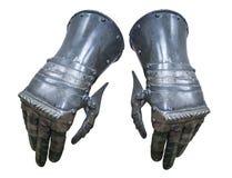 Chevalier de gants d'armure Photographie stock