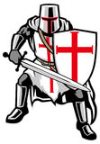 Chevalier de Templar illustration stock