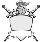 Chevalier Emblem Illustration Image libre de droits