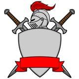 Chevalier Emblem - manteau des bras Photographie stock
