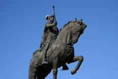 Chevalier en bronze image libre de droits